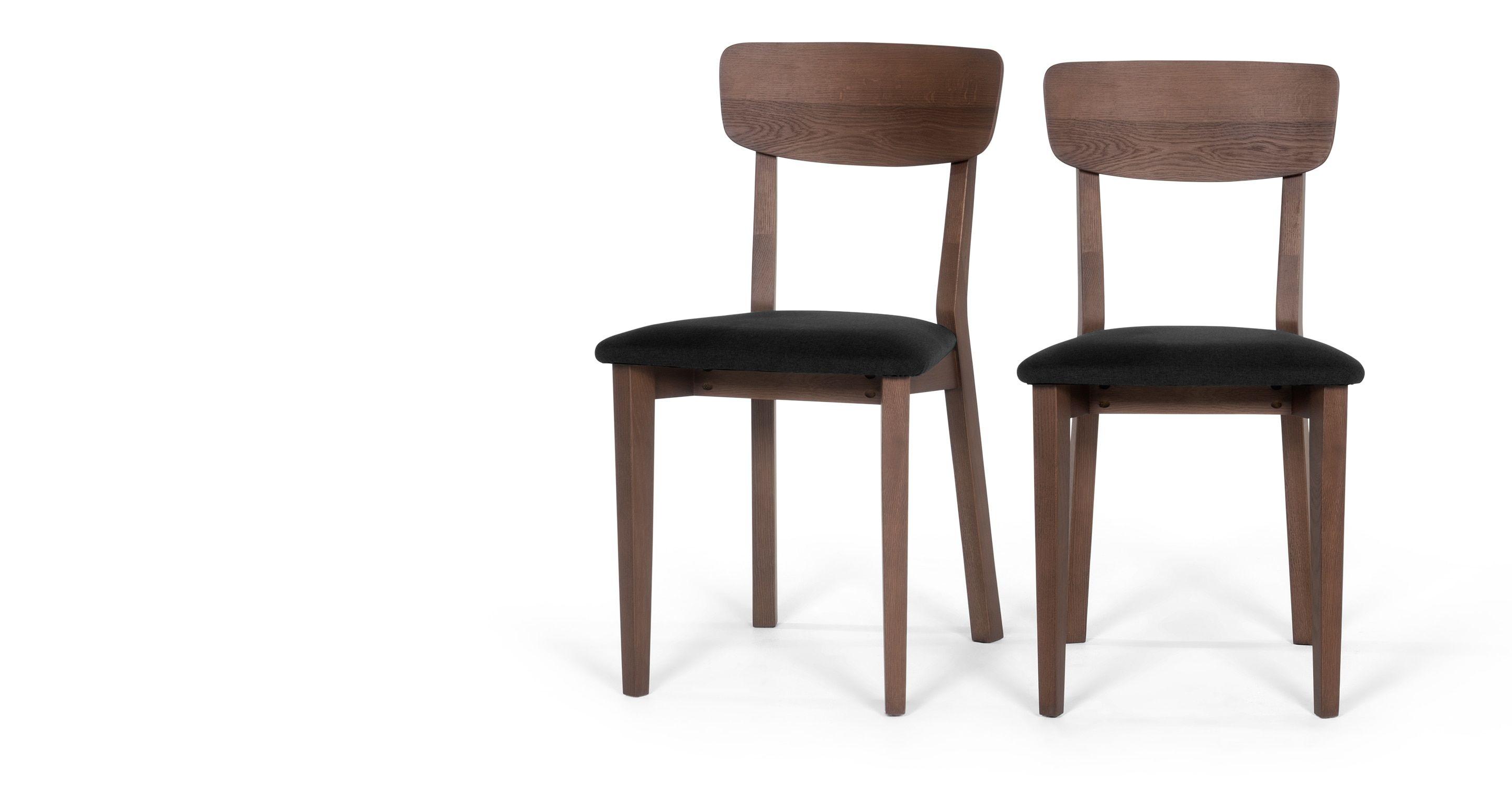 Esszimmerstühle design esszimmerstühle 2 x jenson esszimmerstühle dunkle
