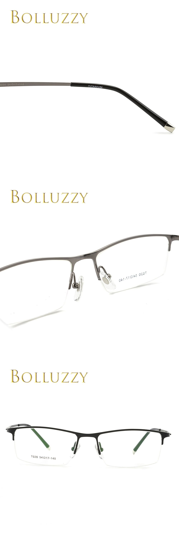 8026d114fbde Men Vintage pure titanium half rim optical prescription eyeglasses frame  T020 big design brand ultra light