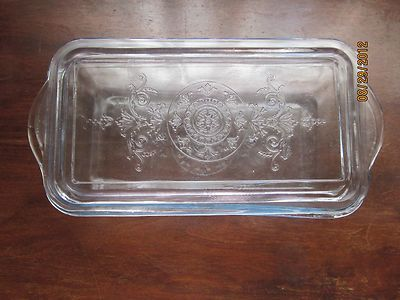 Vintage Fire King Sapphire Blue Philbe Loaf Pan With Lid