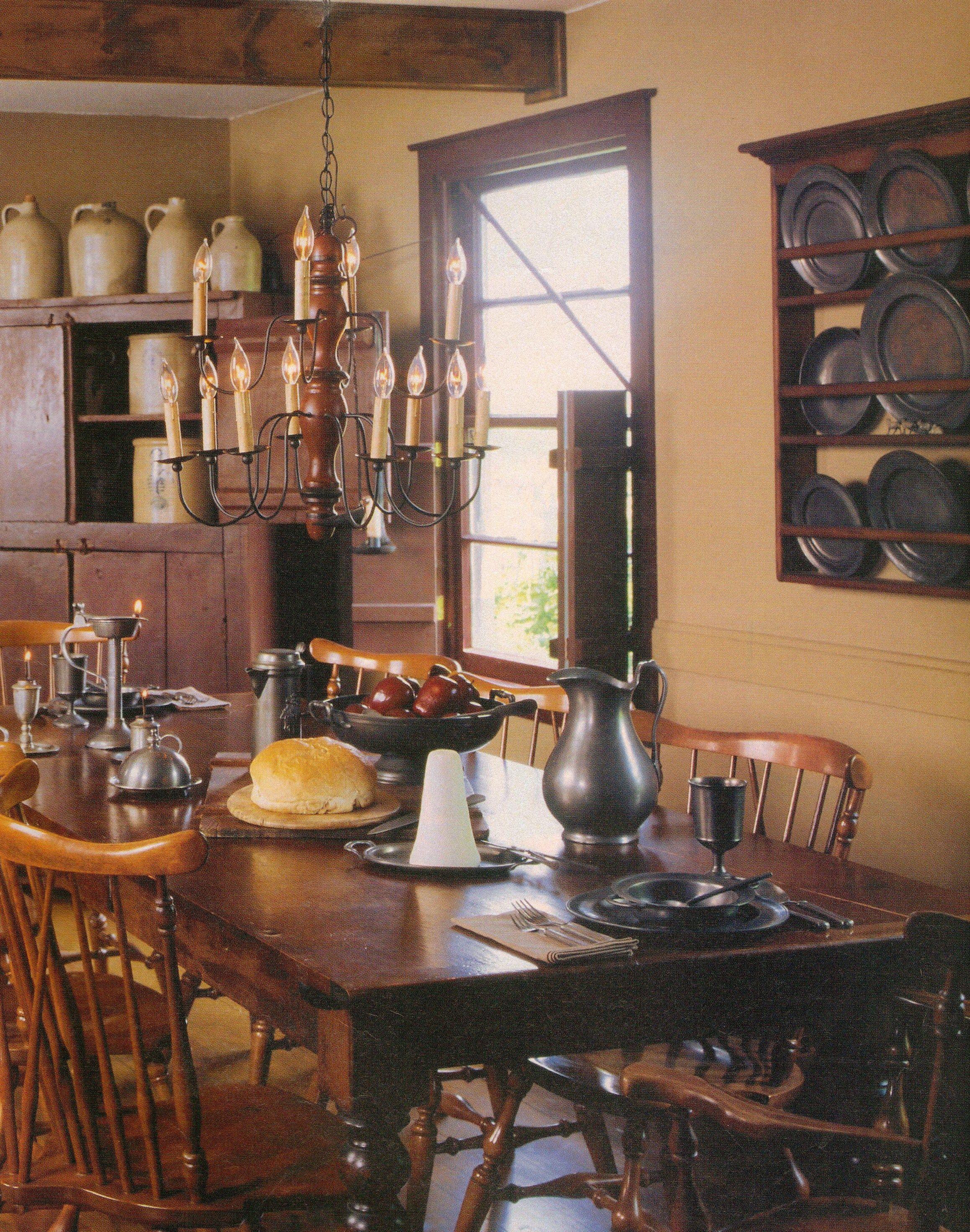 farmhouse interior vintage early american farmhouse showcases raised panel walls barn wood on kitchen interior farmhouse id=75611
