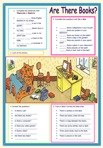 There Is / There Are Elementary Worksheet Elementary Worksheets,  Flashcards For Kids, Elementary