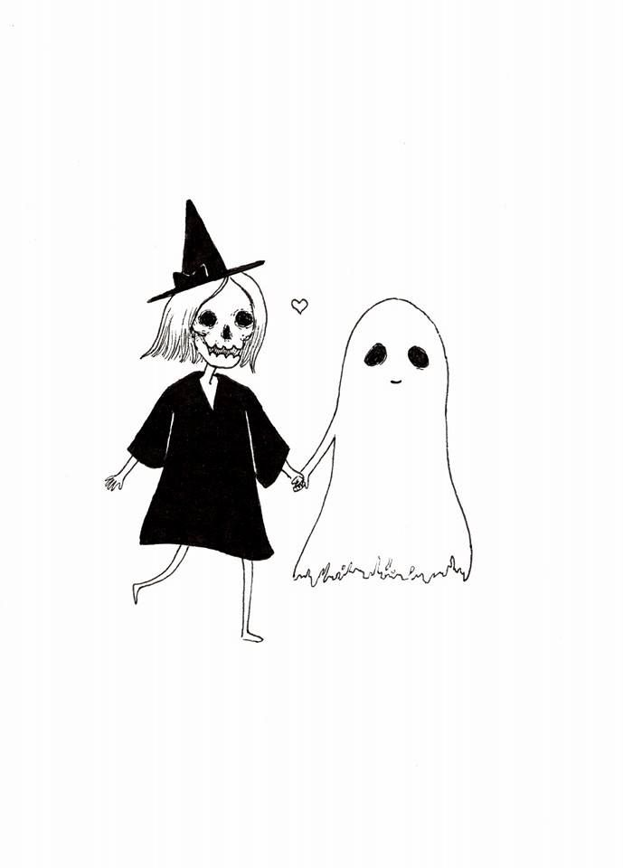 It is a graphic of Shocking Cartoon Ghost Tattoo Drawing
