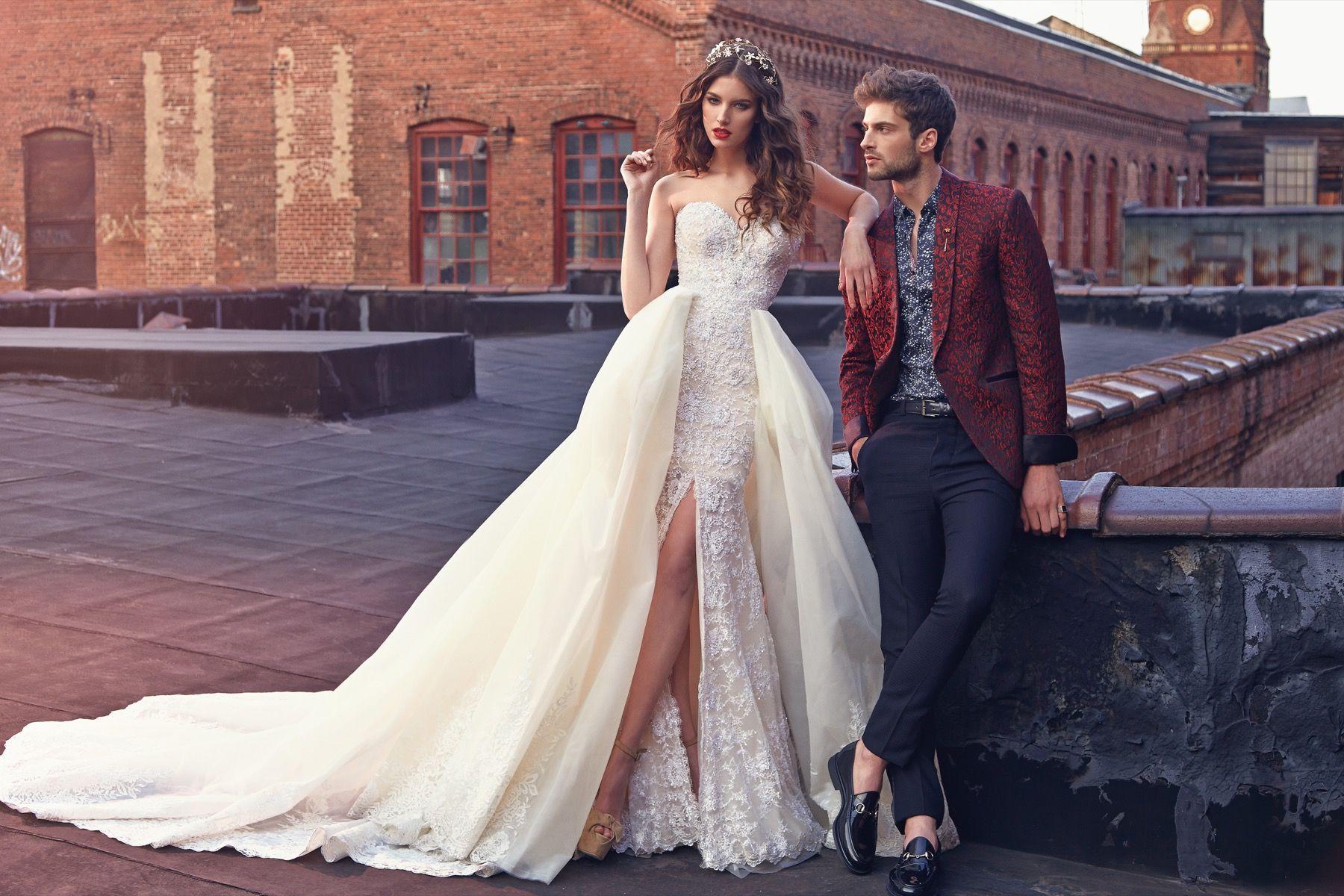 Galialahav the crystal dress is an all embroidered mermaid corset
