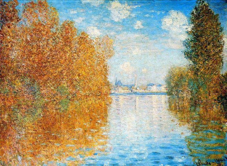 The Real Claude Monet Autumn At Argenteuil 1873 Monet Tableau Automne Tableau Monet