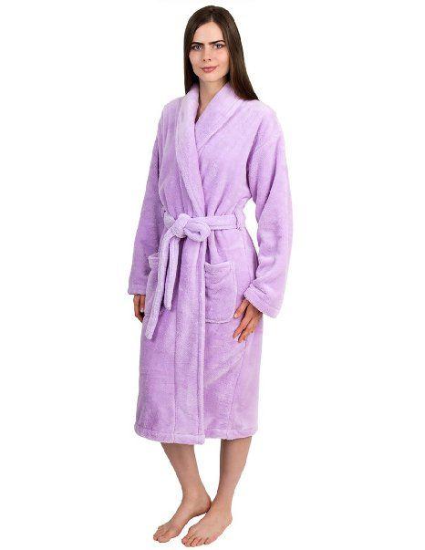 TowelSelections Mens Super Soft Plush Bathrobe Fleece Spa Robe