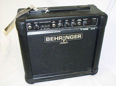 BEHRINGER V-TONE GM108 GUITAR AMP POWERFUL 20-WATT,8 INCH BUGERA SPEAKER Starting at $49.98