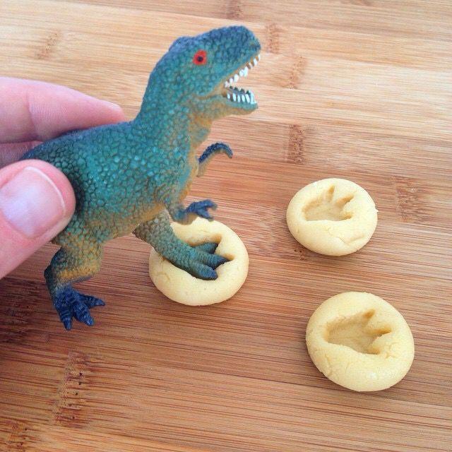 #Dinossauro #Biscoito #Crianças
