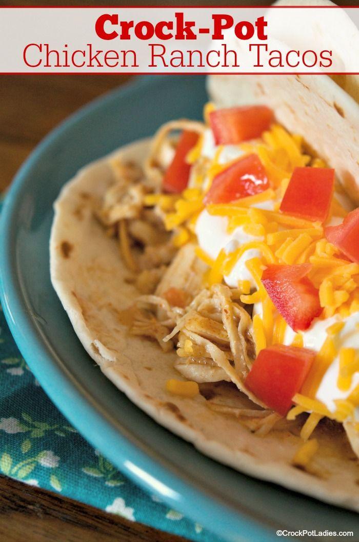 Crock-Pot Chicken Ranch Tacos - Crock-Pot Ladies