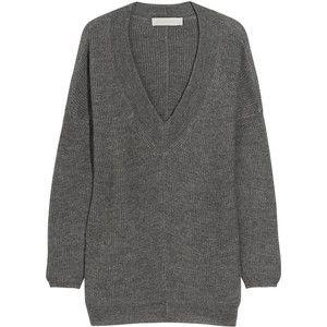 oversized wool deep v sweater • stella mccartney