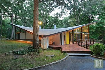 Midcentury Connecticut Home With Wild Roof Asks $1.8M   Curbed