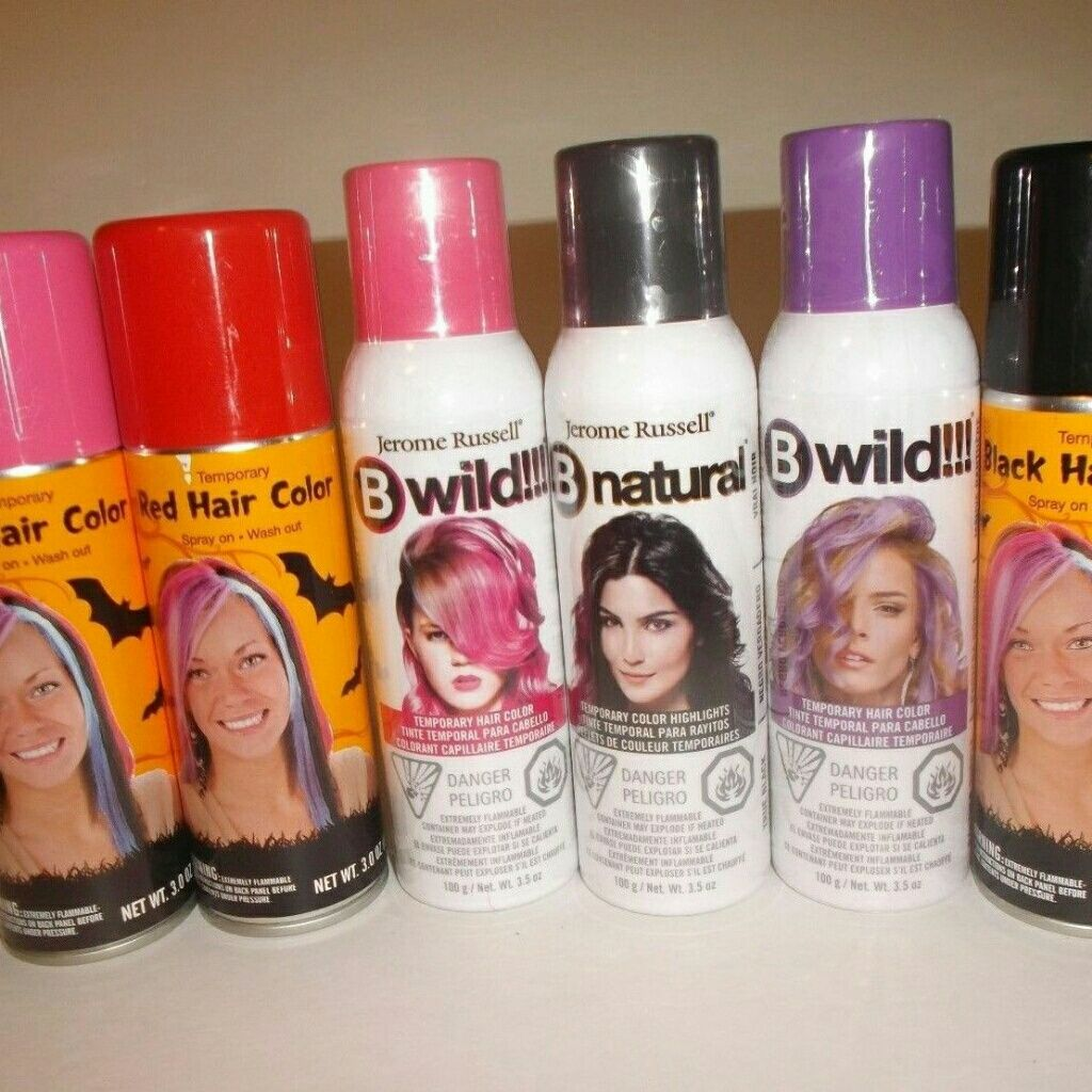 Temporary Hair Color Spray Bundle All New Sprays And Products
