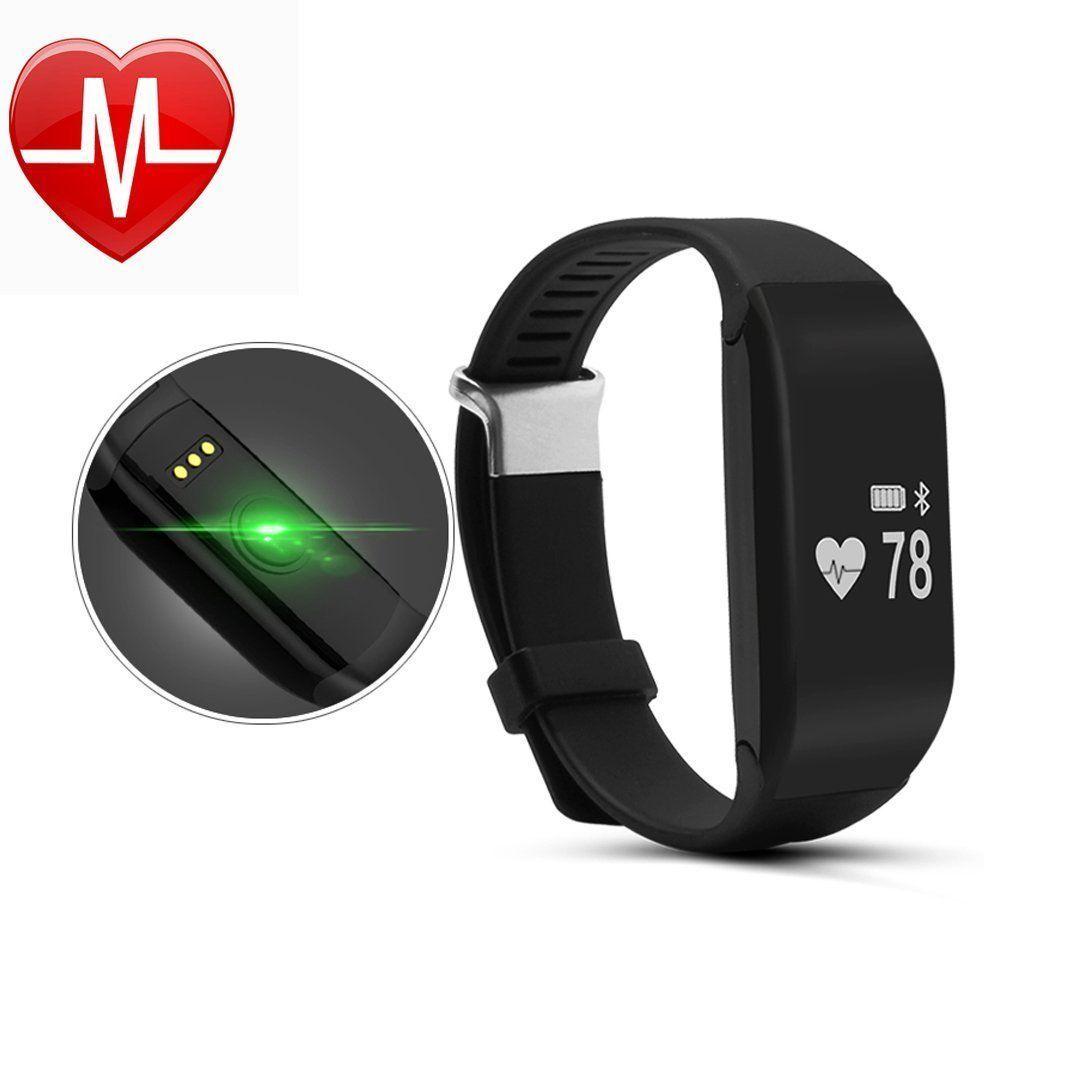 Women/'s Waterproof Smart Bracelet Poignet Montre Moniteur de fréquence cardiaque pour Android IOS
