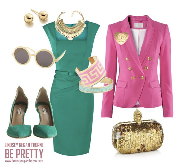 Jade. Pink. Metallics. Gold. Greek Key. Suede. Love.