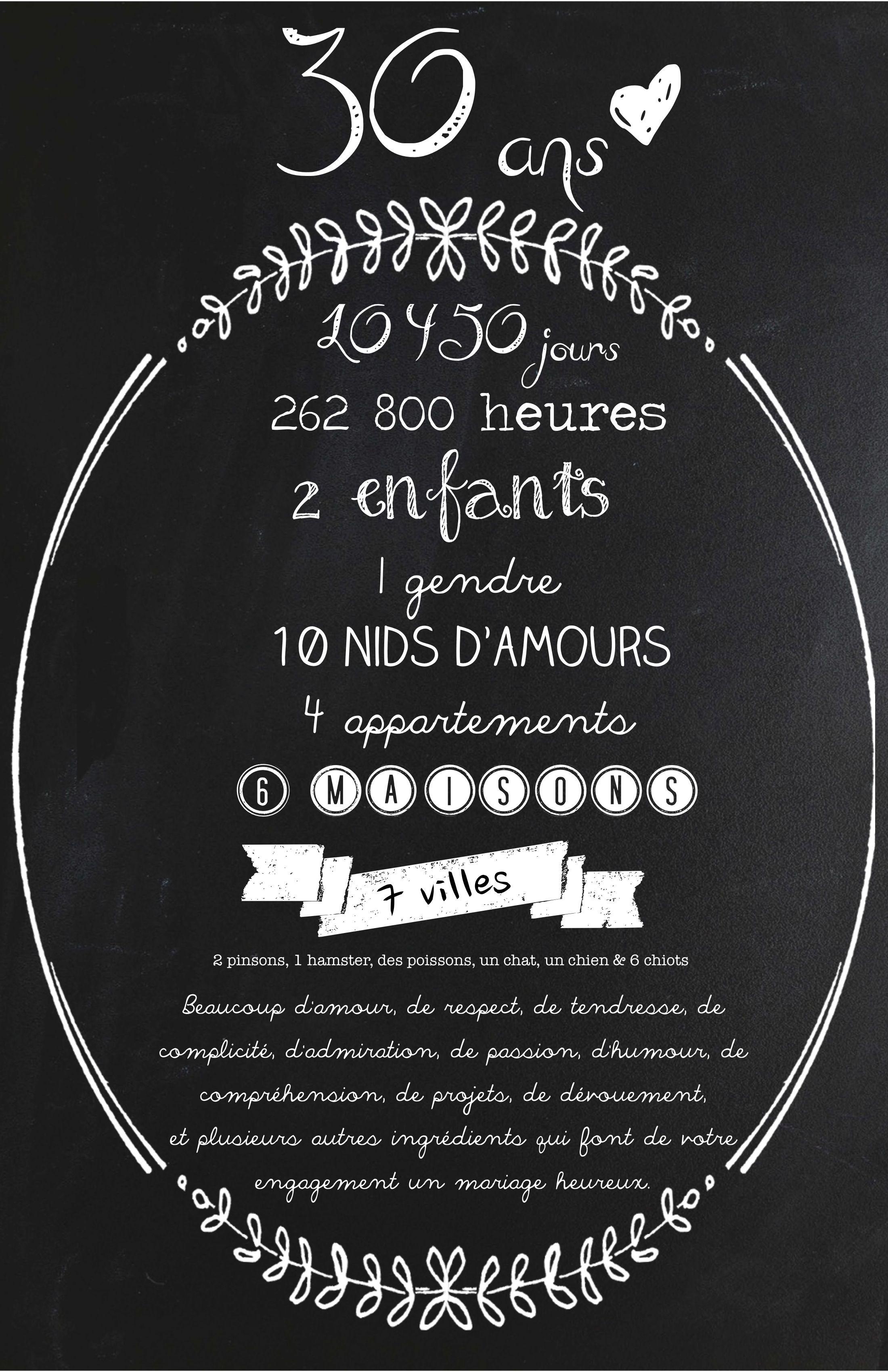 Citation Anniversaire 30 Ans : citation, anniversaire, 30ans, #mariage, #Love, #Amour, Idée, Anniversaire, Mariage,, Mariage