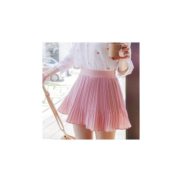Inset Shorts Pleated Mini Skirt ($41) ❤ liked on Polyvore featuring skirts, mini skirts, shorts, women, short skirts, purple pleated skirt, short pleated skirt, short mini skirts and mini skirt