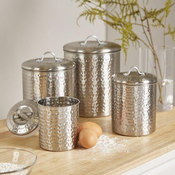 you ll love the cohagen 4 piece kitchen canister set at wayfair rh pinterest com Rustic Glass Kitchen Canister Sets Rustic Glass Kitchen Canister Sets