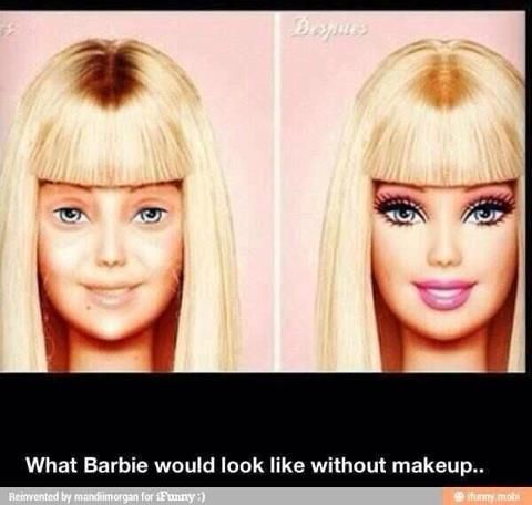 Barbie Before & After Makeup makeover