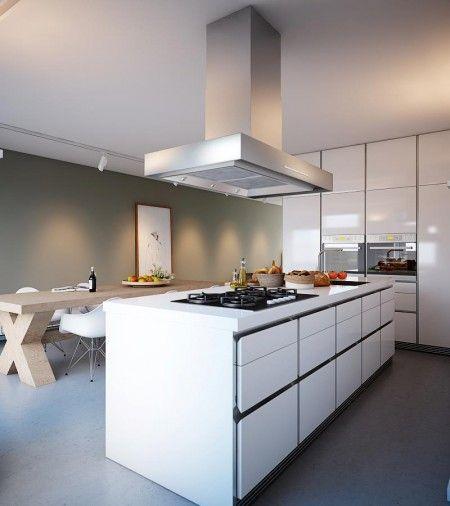 Una cocina blanca moderna + código descuento en Deco-smart para - Cocinas Integrales Blancas