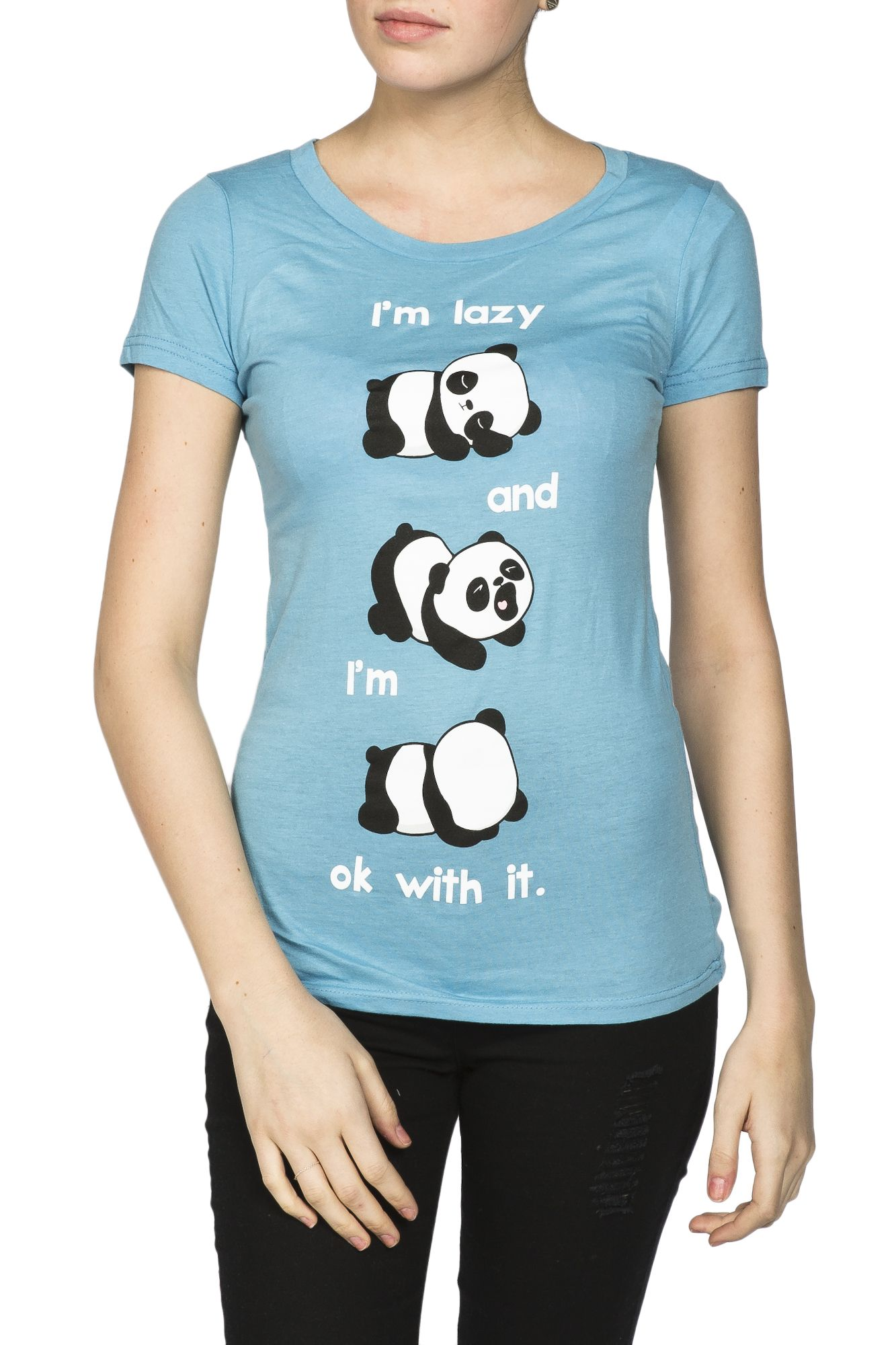 Girls Lazy Ok With It Basic Graphic Tee Lauren Cipolla