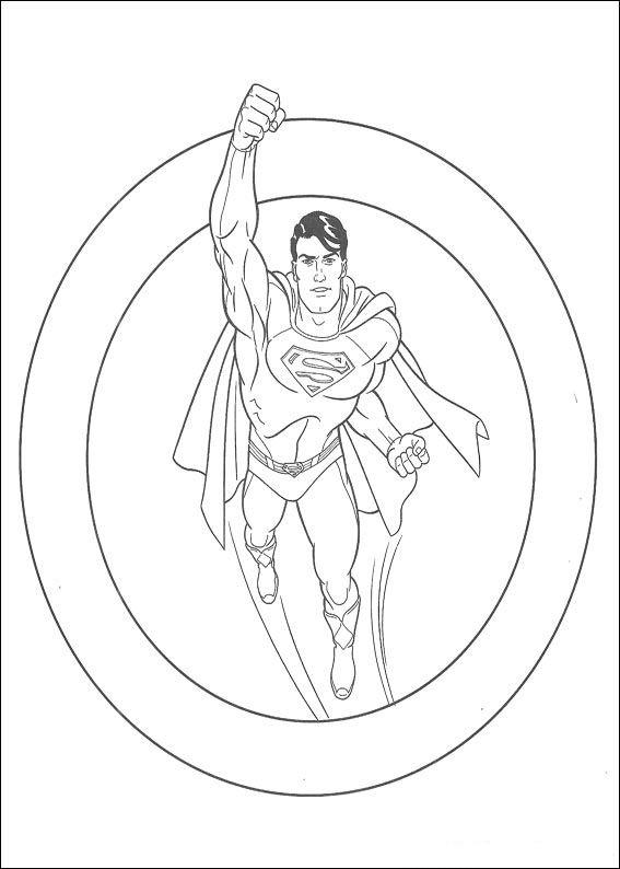 Dibujos para Colorear Superman 6 | Dibujos para colorear para niños ...