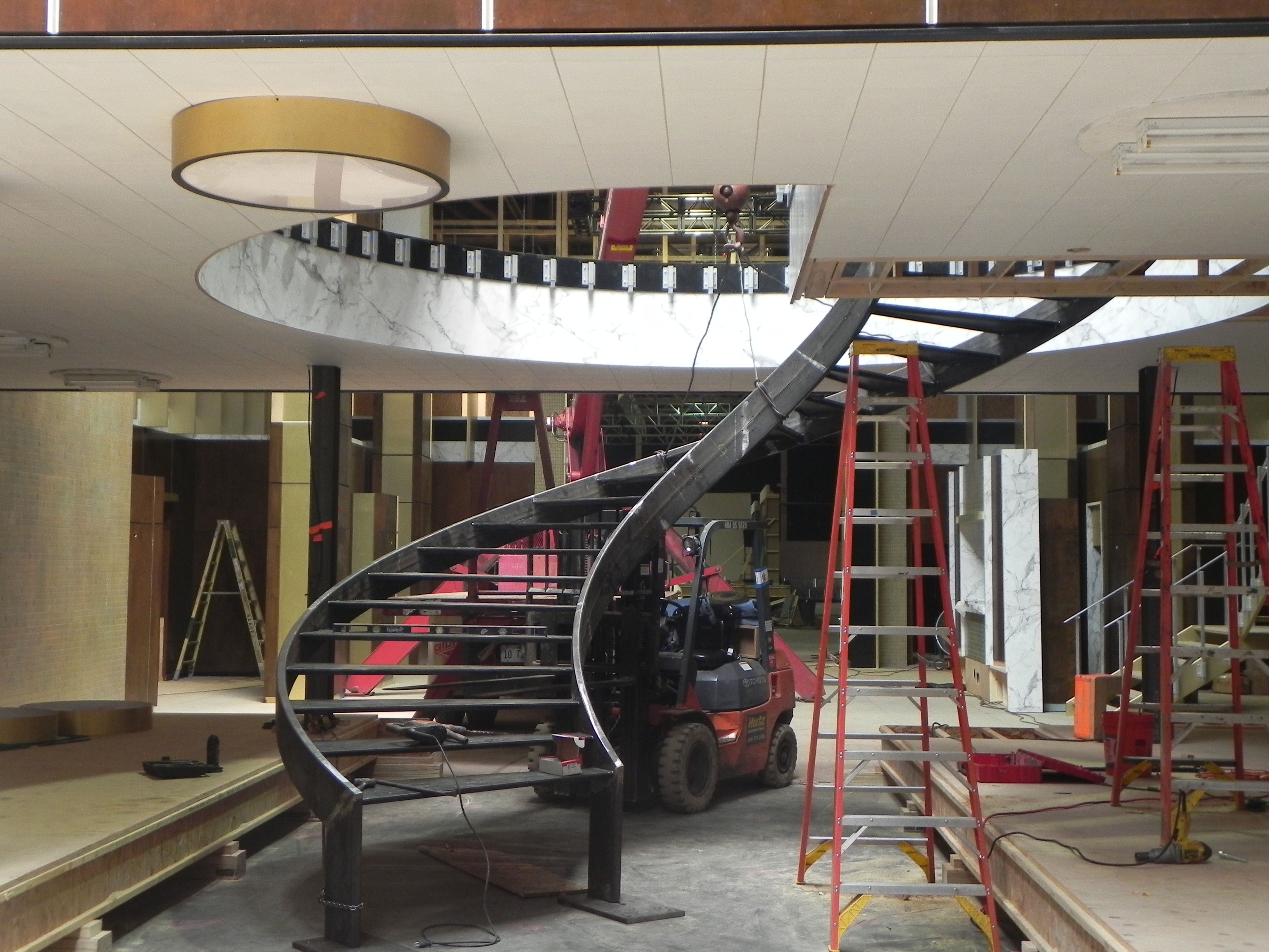 Structural Steel Curved Stringer Stair   Google Search