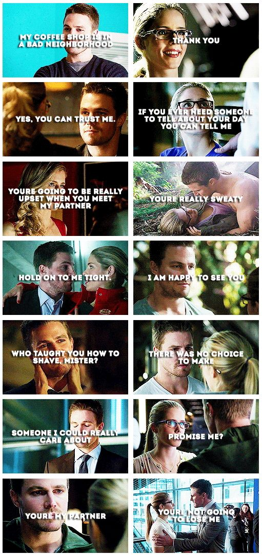 Olicity quotes [gifset] - season 1 & 2 - Oliver Queen and Felicity