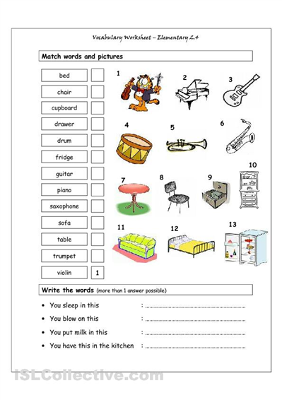 The House Vocabulary Worksheets Pdf A1 Pinterest Spanish