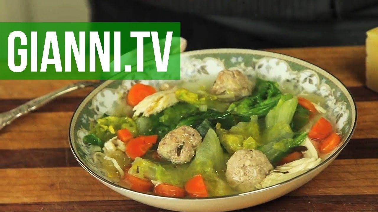 Italian Wedding Soup Chicken, Escarole and Veal Meatballs