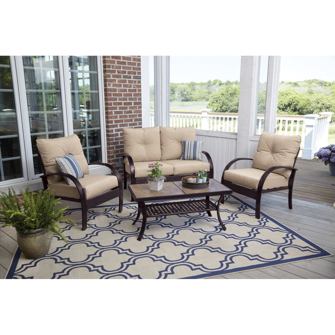 Living Accents Ballina Seating Set 4 pc. - All Patio ... on Ace Outdoor Living id=52989