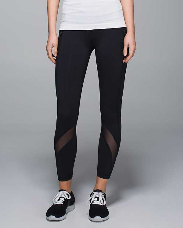 46cd9dec2f Lululemon Inspire Tight II - 4 - Black (Mesh) $92.00 | Clothes ...