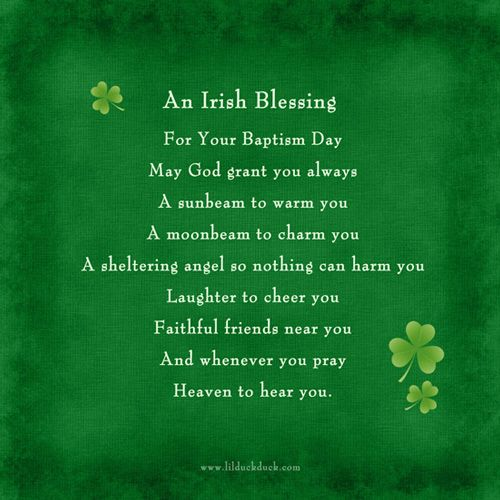irish blessings for babies