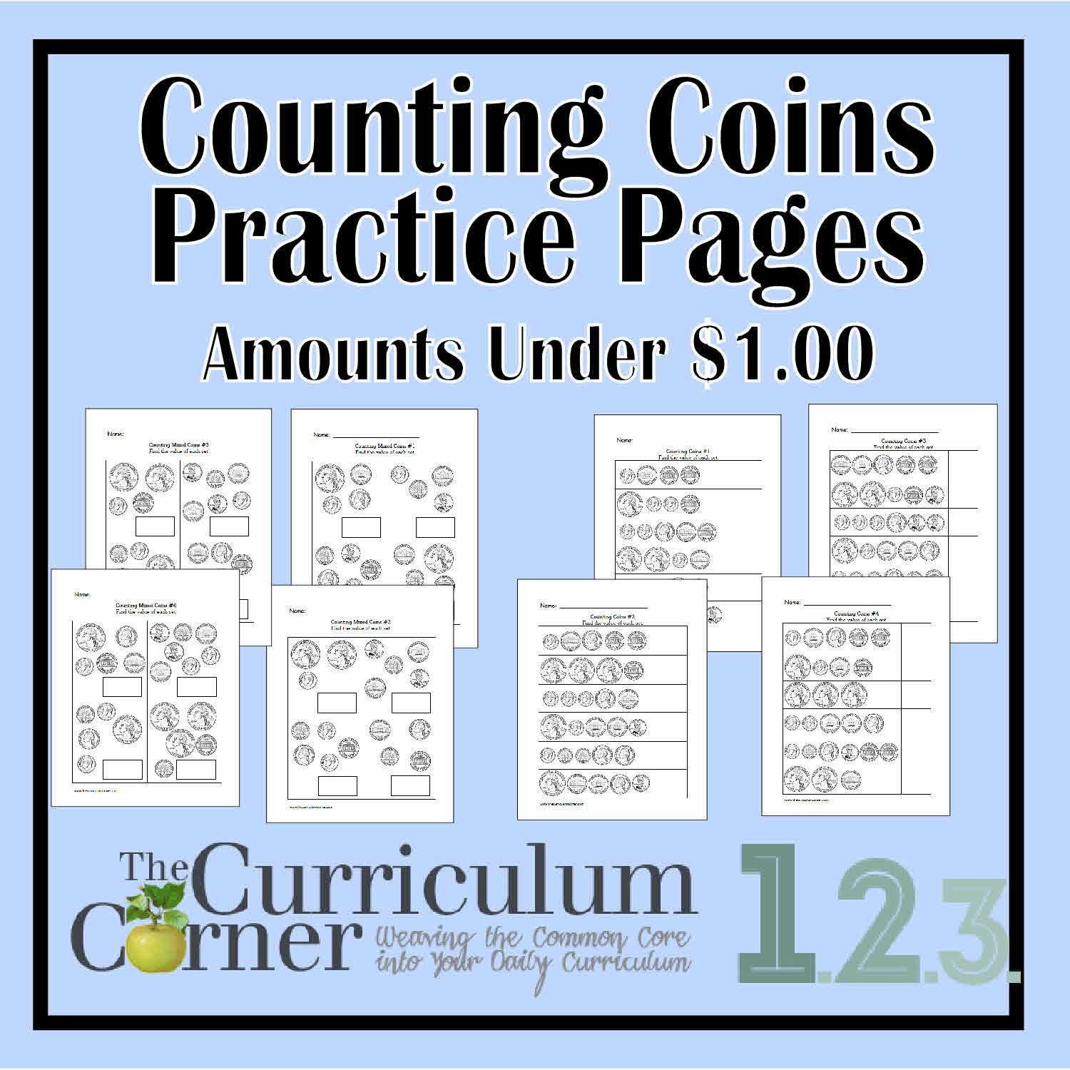 Counting Coins Practice Pages