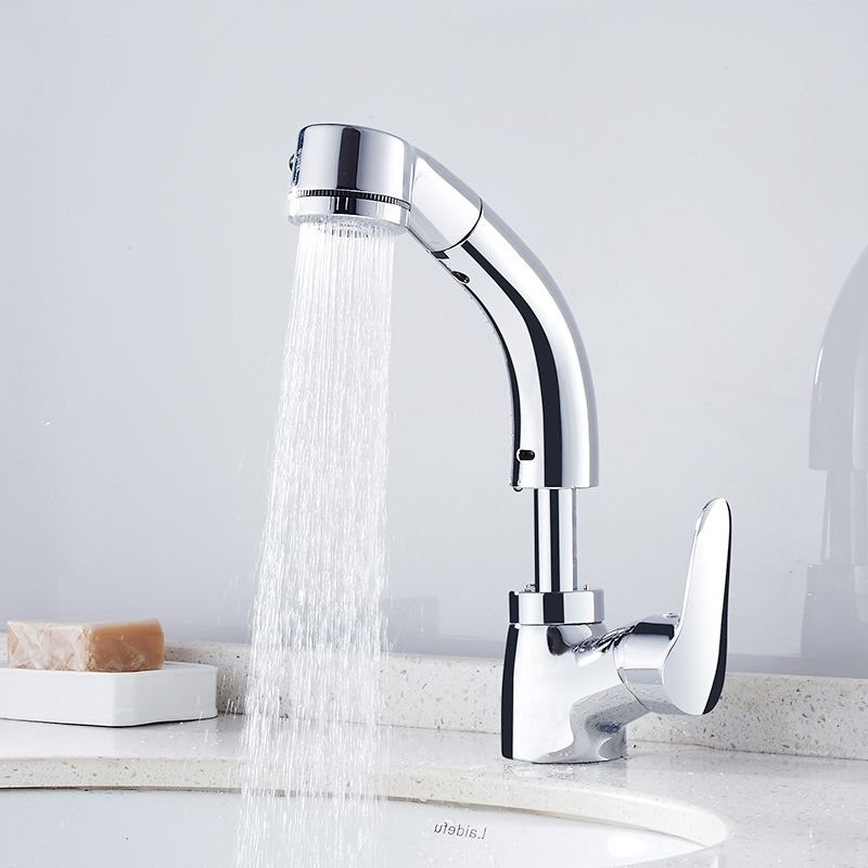 FLG Flexible Pull Out Bath Basin Faucet Hot Cold Water Taps,Special ...
