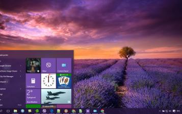 Lavender Theme Desktop | Microsoft | Windows 10, Desktop, Desktop