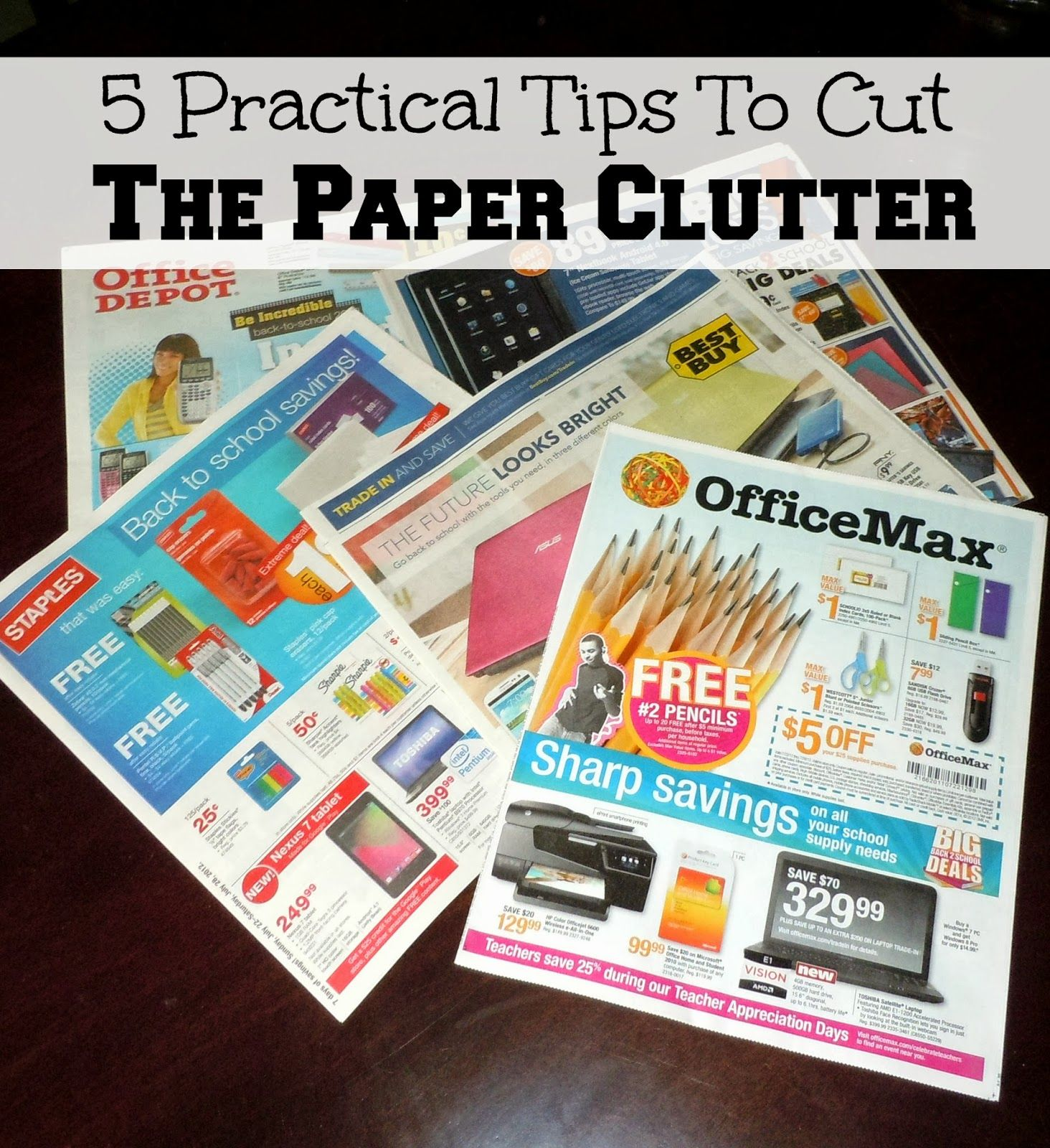 5 Practical Tips To Cut The Paper Clutter | Confessions of a Semi-Domesticated Mama
