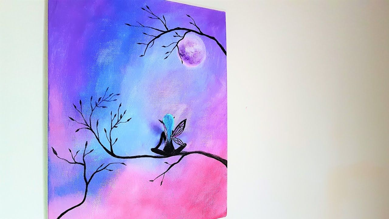 4 20 Diy Fairy Canvas Painting Room Decor In 2019