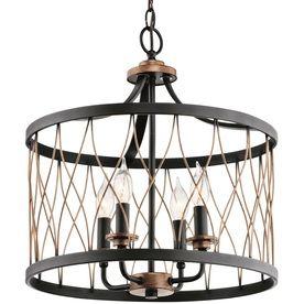 Shop Kichler Lighting Brookglen 15 98-in Black with Gold