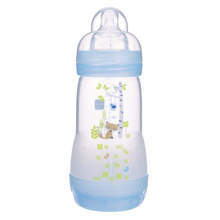 2 Count NEW Girl 9 Ounces MAM Anti Colic Baby Bottles for Breastfed Babies
