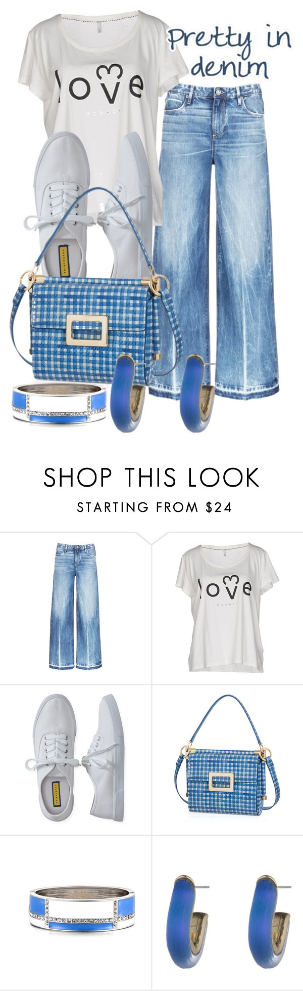"""Untitled #713"" by saritanwa ❤ liked on Polyvore featuring Tortoise, ONLY, Aéropostale, Roger Vivier and Alexis Bittar"