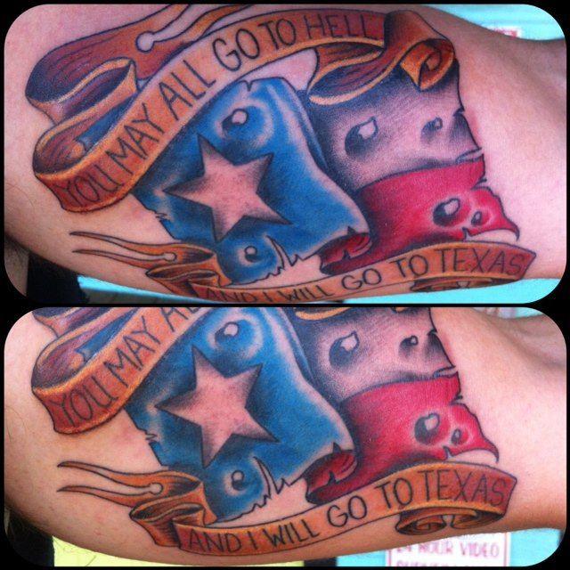 Texas pride tattooed by jp burns pinnacle tattoo corpus for Tattoo corpus christi
