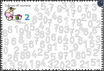 Fichas Para Trabajar Los Numeros Del 0 Al 9 3 Fichas Imagenes Educativas Actividades De Vocabulario