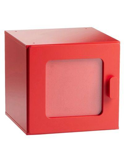 Cube de rangement enfant couleur BLANC CLAIR UNI+ROSE CLAIR UNI+