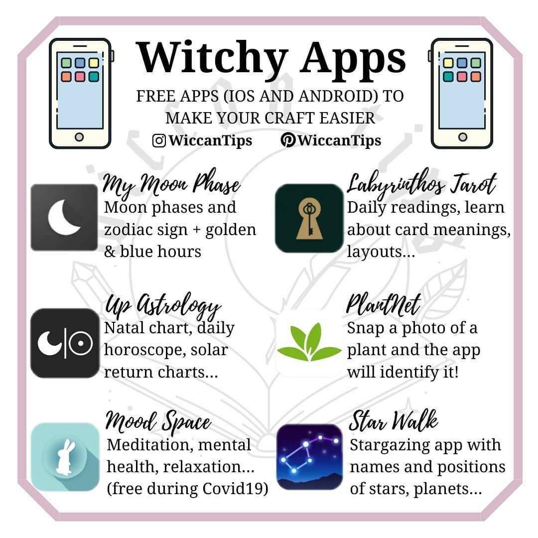 """Wiccan Witch〡Lidia Pradas on Instagram: """"What apps"""