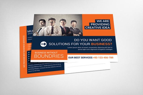 Check out Corporate Postcard Template by Corporate Flyers Postcard ...