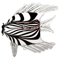Brenna Baker: Angel Fish, Black and White / She has studied under many great artists in the United States and worked with Pino Signoretto in Murano, Italy.