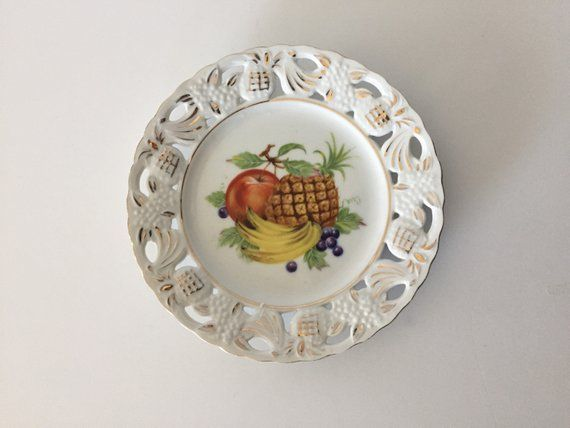 Decorative Kitchen Plate/Mid-Century Fruit Plate/kitchen Decor ...