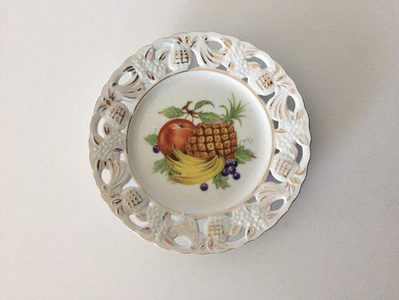 Decorative Kitchen Plate/Mid-Century Fruit Plate/kitchen ...