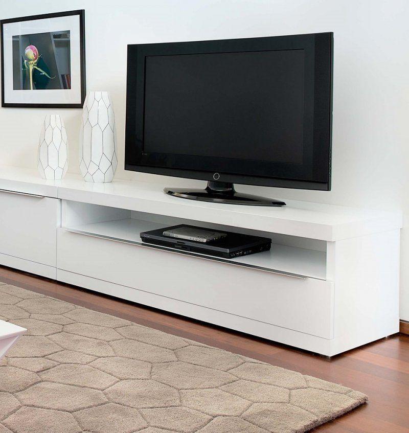 TemaHome VALLEY meuble tv design blanc avec niche de rangements