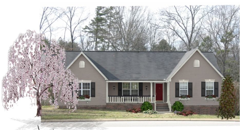 Tan Siding Black Shutters White Trim And Gray Steel Roof