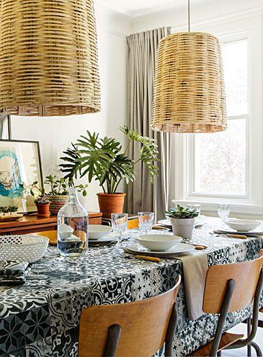 Grenada Tile Tablecloth  Kitchens Impressive Dining Room Tablecloths Decorating Design
